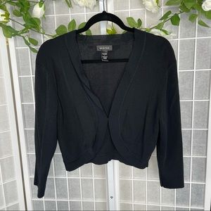 Spense Women's Black Shrug Size Large